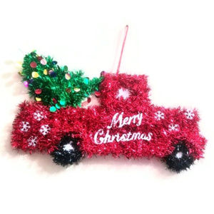 Other - Merry Christmas vintage truck wall hanging decor